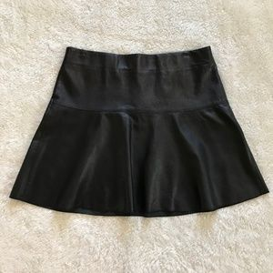 Vince Skirts - Vince Black Lamb Leather Mini Skirt Flare 8